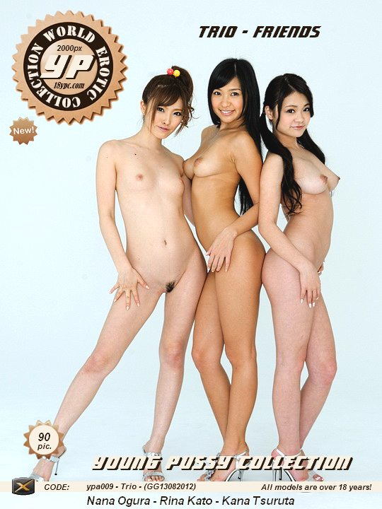 Trio - Friends - three naked young Japanese girls ypa009